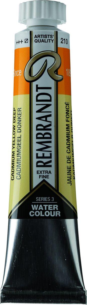 Royal Talens Акварель Rembrandt цвет 210 Кадмий желтый насыщенный 20 мл05042100Акварельные краски Rembrandt – это профессиональная акварель, обладающая всеми качествами, которые необходимы современным художникам. Каждый цвет состоит лишь из одного сконцентрированного пигмента и гуммиарабика (аравийской камеди), созданного по уникальной технологии. Краски отличаются высокой степенью светостойкости, прозрачности, обеспечивают отличную цветопередачу.Акварель Rembrandt хорошо ложится на бумагу, позволяя художнику контролировать расход краски с любой сложной фактурой. Уровень Artist.