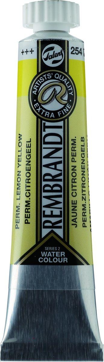 Royal Talens Акварель Rembrandt цвет 254 Желтый лимонный устойчивый 20 мл05042540Акварельные краски Rembrandt – это профессиональная акварель, обладающая всеми качествами, которые необходимы современным художникам. Каждый цвет состоит лишь из одного сконцентрированного пигмента и гуммиарабика (аравийской камеди), созданного по уникальной технологии. Краски отличаются высокой степенью светостойкости, прозрачности, обеспечивают отличную цветопередачу. Акварель Rembrandt хорошо ложится на бумагу, позволяя художнику контролировать расход краски с любой сложной фактурой.Уровень Artist.