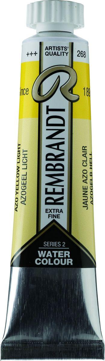 Royal Talens Акварель Rembrandt цвет 268 Желтый светлый АЗО 20 мл05042680Акварельные краски Rembrandt – это профессиональная акварель, обладающая всеми качествами, которые необходимы современным художникам. Каждый цвет состоит лишь из одного сконцентрированного пигмента и гуммиарабика (аравийской камеди), созданного по уникальной технологии. Краски отличаются высокой степенью светостойкости, прозрачности, обеспечивают отличную цветопередачу. Акварель Rembrandt хорошо ложится на бумагу, позволяя художнику контролировать расход краски с любой сложной фактурой.Уровень Artist.