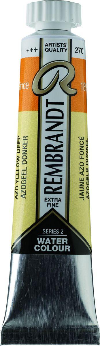 Royal Talens Акварель Rembrandt цвет 270 Желтый насыщенный АЗО 20 мл05042700Акварельные краски Rembrandt – это профессиональная акварель, обладающая всеми качествами, которые необходимы современным художникам. Каждый цвет состоит лишь из одного сконцентрированного пигмента и гуммиарабика (аравийской камеди), созданного по уникальной технологии. Краски отличаются высокой степенью светостойкости, прозрачности, обеспечивают отличную цветопередачу. Акварель Rembrandt хорошо ложится на бумагу, позволяя художнику контролировать расход краски с любой сложной фактурой.Уровень Artist.
