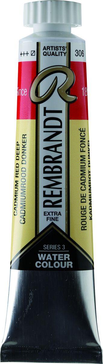Royal Talens Акварель Rembrandt цвет 306 Кадмий красный насыщенный 20 мл05043060Акварельные краски Rembrandt – это профессиональная акварель, обладающая всеми качествами, которые необходимы современным художникам. Каждый цвет состоит лишь из одного сконцентрированного пигмента и гуммиарабика (аравийской камеди), созданного по уникальной технологии. Краски отличаются высокой степенью светостойкости, прозрачности, обеспечивают отличную цветопередачу. Акварель Rembrandt хорошо ложится на бумагу, позволяя художнику контролировать расход краски с любой сложной фактурой.Уровень Artist.