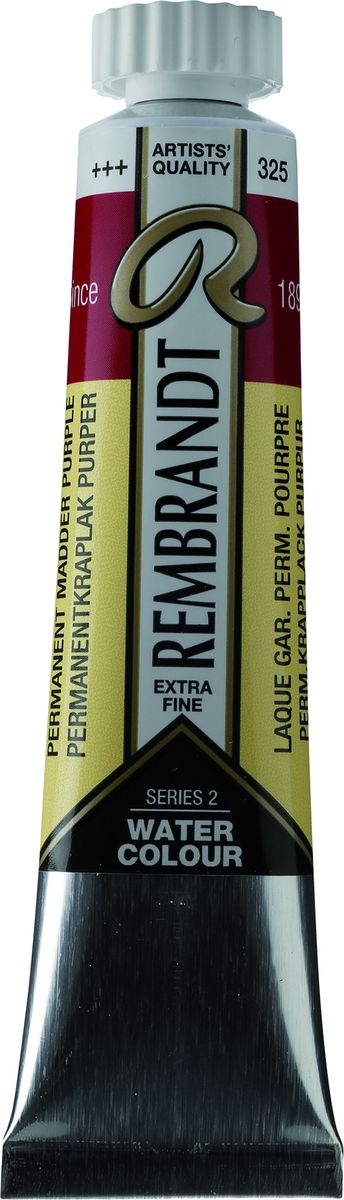 Royal Talens Акварель Rembrandt цвет 325 Марена пурпурная устойчивый 20 мл05043250Акварельные краски Rembrandt – это профессиональная акварель, обладающая всеми качествами, которые необходимы современным художникам. Каждый цвет состоит лишь из одного сконцентрированного пигмента и гуммиарабика (аравийской камеди), созданного по уникальной технологии. Краски отличаются высокой степенью светостойкости, прозрачности, обеспечивают отличную цветопередачу. Акварель Rembrandt хорошо ложится на бумагу, позволяя художнику контролировать расход краски с любой сложной фактурой.Уровень Artist.