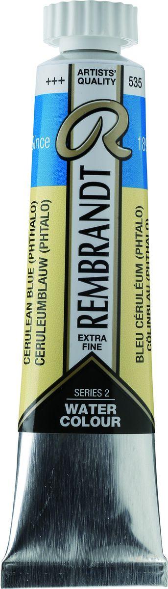 Royal Talens Акварель Rembrandt цвет 535 Лазурно-синий фталоцианин 20 мл05045350Акварельные краски Rembrandt – это профессиональная акварель, обладающая всеми качествами, которые необходимы современным художникам. Каждый цвет состоит лишь из одного сконцентрированного пигмента и гуммиарабика (аравийской камеди), созданного по уникальной технологии. Краски отличаются высокой степенью светостойкости, прозрачности, обеспечивают отличную цветопередачу. Акварель Rembrandt хорошо ложится на бумагу, позволяя художнику контролировать расход краски с любой сложной фактурой.Уровень Artist.