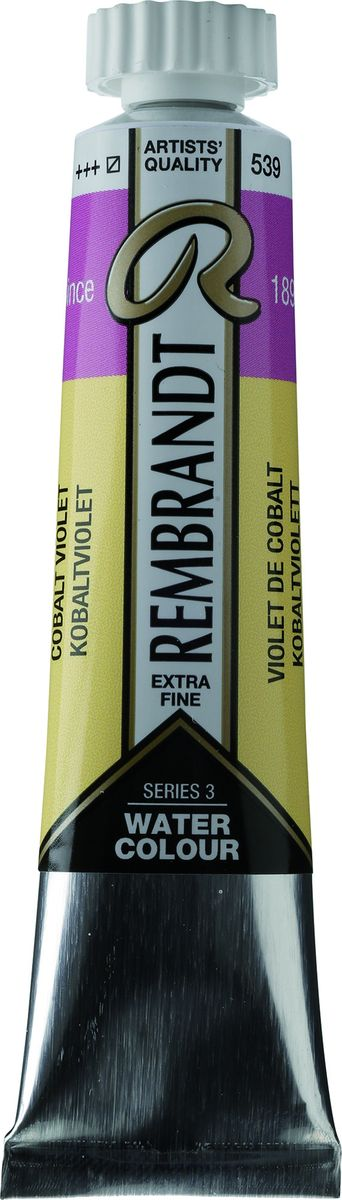 Royal Talens Акварель Rembrandt цвет 539 Кобальт фиолетовый 20 мл05045390Акварельные краски Rembrandt – это профессиональная акварель, обладающая всеми качествами, которые необходимы современным художникам. Каждый цвет состоит лишь из одного сконцентрированного пигмента и гуммиарабика (аравийской камеди), созданного по уникальной технологии. Краски отличаются высокой степенью светостойкости, прозрачности, обеспечивают отличную цветопередачу.Акварель Rembrandt хорошо ложится на бумагу, позволяя художнику контролировать расход краски с любой сложной фактурой. Уровень Artist.