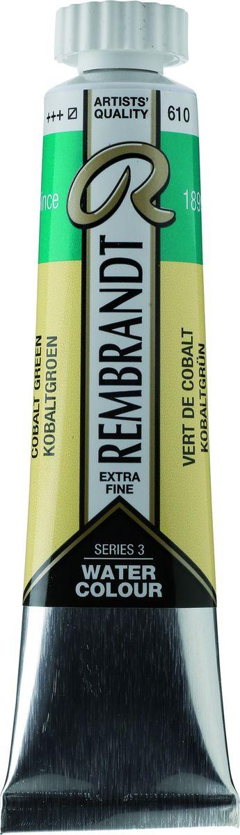 Royal Talens Акварель Rembrandt цвет 610 Кобальт зеленый 20 мл05046100Акварельные краски Rembrandt – это профессиональная акварель, обладающая всеми качествами, которые необходимы современным художникам. Каждый цвет состоит лишь из одного сконцентрированного пигмента и гуммиарабика (аравийской камеди), созданного по уникальной технологии. Краски отличаются высокой степенью светостойкости, прозрачности, обеспечивают отличную цветопередачу. Акварель Rembrandt хорошо ложится на бумагу, позволяя художнику контролировать расход краски с любой сложной фактурой.Уровень Artist.