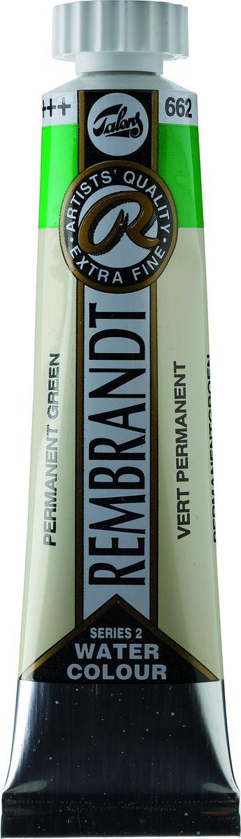Royal Talens Акварель Rembrandt цвет 662 Зеленый устойчивый 20 мл05046620Акварельные краски Rembrandt – это профессиональная акварель, обладающая всеми качествами, которые необходимы современным художникам. Каждый цвет состоит лишь из одного сконцентрированного пигмента и гуммиарабика (аравийской камеди), созданного по уникальной технологии. Краски отличаются высокой степенью светостойкости, прозрачности, обеспечивают отличную цветопередачу.Акварель Rembrandt хорошо ложится на бумагу, позволяя художнику контролировать расход краски с любой сложной фактурой. Уровень Artist.