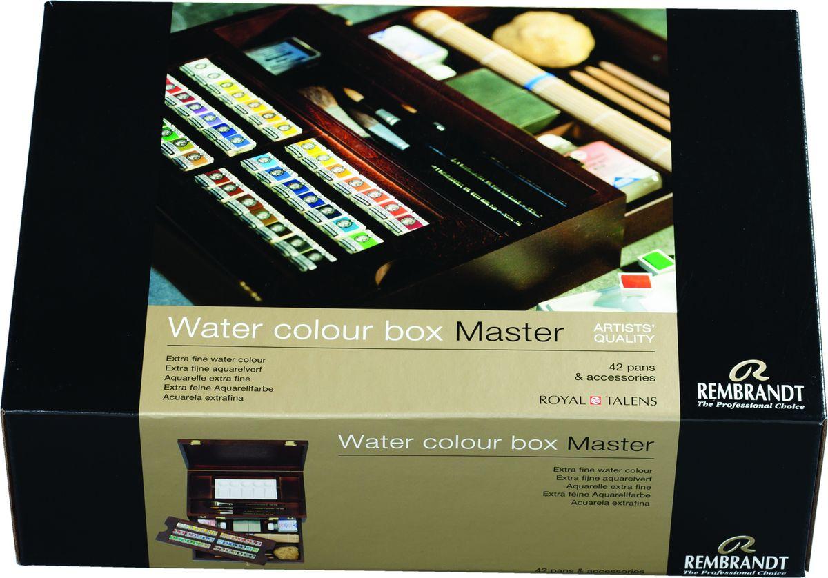Royal Talens Набор акварельных красок Rembrandt 42 цвета05840002Акварельные краски Rembrandt – это профессиональная акварель, обладающая всеми качествами, которые необходимы современным художникам. Каждый цвет состоит лишь из одного сконцентрированного пигмента и гуммиарабика (аравийской камеди), созданного по уникальной технологии. Краски отличаются высокой степенью светостойкости, прозрачности, обеспечивают отличную цветопередачу. Акварель Rembrandt хорошо ложится на бумагу, позволяя художнику контролировать расход краски с любой сложной фактурой.Уровень Artist.