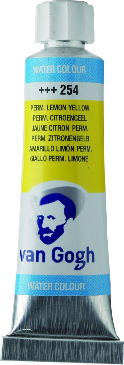 Royal Talens Акварель Van Gogh цвет 254 Желтый лимонный устойчивый 10 мл20012540Акварельные краски Van Gogh - это великолепные яркие цвета с высокой степенью прозрачности. Краски изготавливаются из натуральных пигментов с примесью чистого гуммиарабика, благодаря чему акварель остается светостойкой даже при сильном разбавлении водой, при этом картины не выцветают в течение многих лет. Благодаря короткому времени высыхания, акварель не расплывается по бумаге - картина сохраняет четкость и безупречный переход от полупрозрачных оттенков к насыщенным.Основные характеристики:Высокая степень прозрачностиЛегкость нанесения на поверхностьСветостойкие (гарантия сохранения цвета у большинства оттенков - 100 лет)Единая степень вязкостиЯркие оттенкиПалитра из 40 цветов