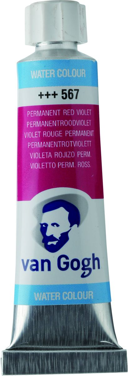 Royal Talens Акварель Van Gogh цвет 567 Красно-фиолетовый устойчивый 10 мл20015670Акварельные краски Van Gogh - это великолепные яркие цвета с высокой степенью прозрачности. Краски изготавливаются из натуральных пигментов с примесью чистого гуммиарабика, благодаря чему акварель остается светостойкой даже при сильном разбавлении водой, при этом картины не выцветают в течение многих лет. Благодаря короткому времени высыхания, акварель не расплывается по бумаге - картина сохраняет четкость и безупречный переход от полупрозрачных оттенков к насыщенным.Основные характеристики:Высокая степень прозрачностиЛегкость нанесения на поверхностьСветостойкие (гарантия сохранения цвета у большинства оттенков - 100 лет)Единая степень вязкостиЯркие оттенкиПалитра из 40 цветов