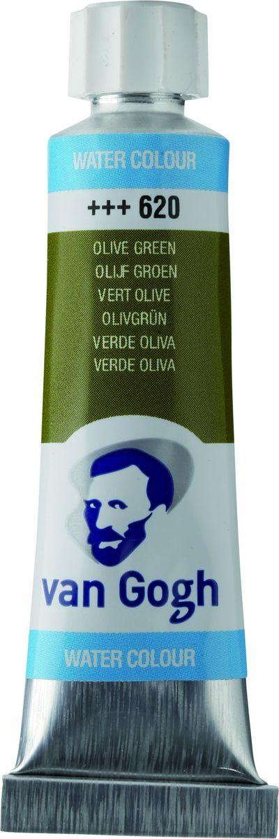 Royal Talens Акварель Van Gogh цвет 620 Зеленый оливковый 10 мл20016200Акварельные краски Van Gogh - это великолепные яркие цвета с высокой степенью прозрачности. Краски изготавливаются из натуральных пигментов с примесью чистого гуммиарабика, благодаря чему акварель остается светостойкой даже при сильном разбавлении водой, при этом картины не выцветают в течение многих лет. Благодаря короткому времени высыхания, акварель не расплывается по бумаге - картина сохраняет четкость и безупречный переход от полупрозрачных оттенков к насыщенным.Основные характеристики:-Высокая степень прозрачности.-Легкость нанесения на поверхность.-Светостойкие (гарантия сохранения цвета у большинства оттенков - 100 лет).-Единая степень вязкости.-Яркие оттенки.-Палитра из 40 цветов.