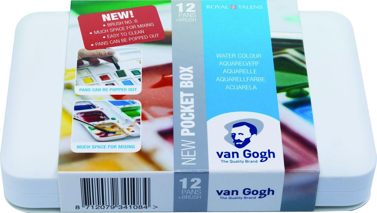 Royal Talens Набор акварельных красок Van Gogh 12 цветов 2080863120808631Акварельные краски Van Gogh - это великолепные яркие цвета с высокой степенью прозрачности. Краски изготавливаются из натуральных пигментов с примесью чистого гуммиарабика, благодаря чему акварель остается светостойкой даже при сильном разбавлении водой, при этом картины не выцветают в течение многих лет. Благодаря короткому времени высыхания, акварель не расплывается по бумаге - картина сохраняет четкость и безупречный переход от полупрозрачных оттенков к насыщенным. Цвета: Chinese White, Paynes Grey, Permanent Lemon Yellow, Permanent Red Light, Ultramarine Deep, Sap Green, Yellow Ochre, Azo Yellow Medium, Madder Lake Deep, Cerulean Blue (Phthalo), Viridian, Burnt Sienna.