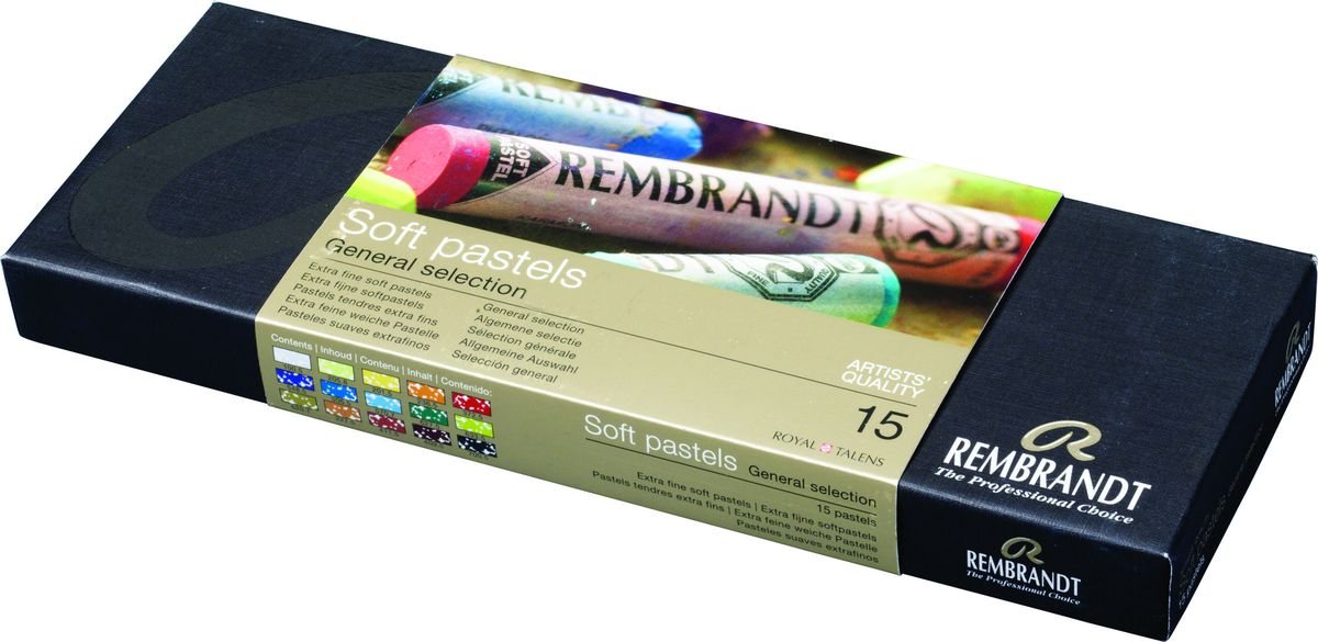 Royal Talens Набор пастели Rembrandt Стартовый 15 цветов 3182301731823033Профессиональная сухая пастель Rembrandt – это высококачественная серия сухой пастели как для профессионалов, так и для художников-любителей. ПастельRembrandtпроизводится из чистейших пигментов с великолепным по качеству закрепителем из каолиновой глины, имеет высокий уровень светостойкости, хорошо ложится на бумагу практически любого типа, мелки не крошатся и не ломаются.Максимальная концентрация пигмента способствует оптимальной интенсивности цвета.