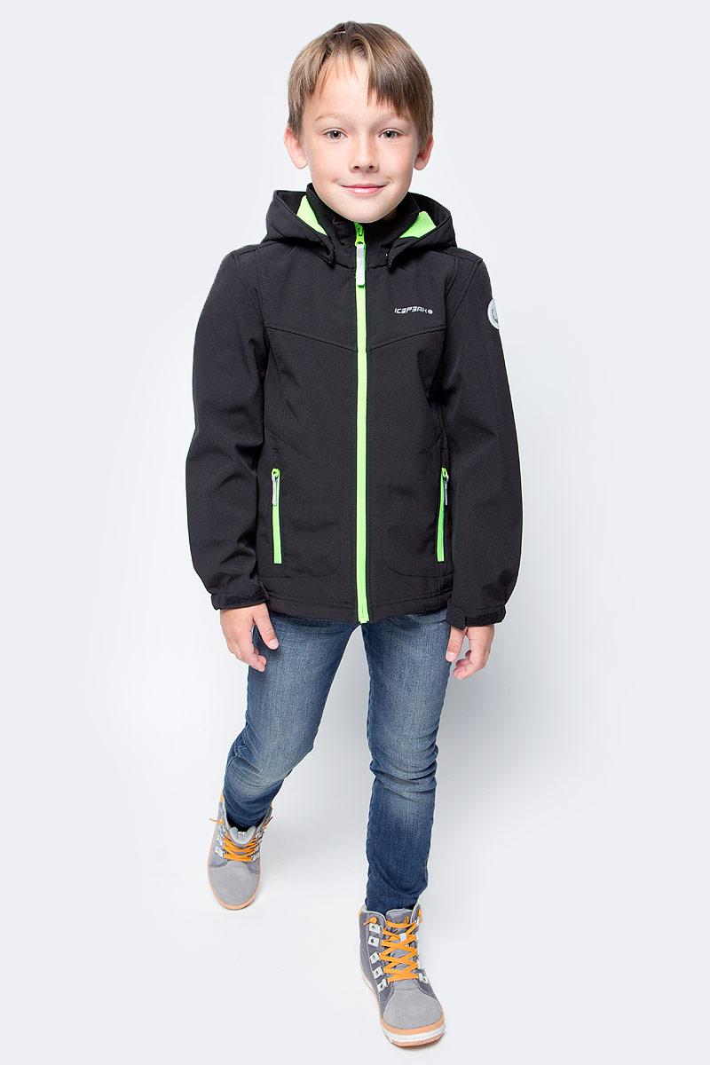 Куртка для мальчика Icepeak, цвет: черный. 751809682IVT_982. Размер 128751809682IVT_982Куртка для мальчика Icepeak выполнена из качественного материала. Модель с длинными рукавами застегивается на застежку-молнию. Изделие дополнено съемным капюшоном и двумя врезными карманами на молниях.