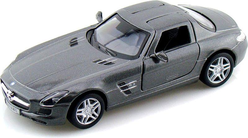 Kinsmart Модель автомобиля Mercedes-Benz SLS AMG цвет серый welly 84002 велли радиоуправляемая модель машины 1 24 mercedes benz sls amg