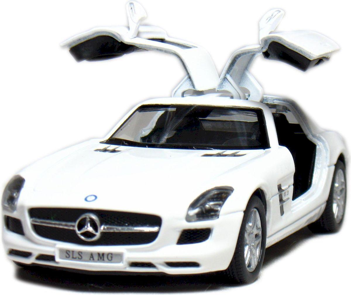 Фото Kinsmart Модель автомобиля Mercedes-Benz SLS AMG цвет белый