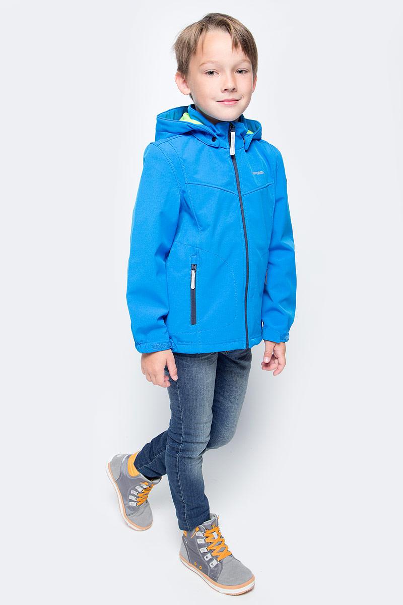 Куртка для мальчика Icepeak, цвет: голубой. 751809682IVT_933. Размер 128751809682IVT_933Куртка для мальчика Icepeak выполнена из качественного материала. Модель с длинными рукавами застегивается на застежку-молнию. Изделие дополнено съемным капюшоном и двумя врезными карманами на молниях.