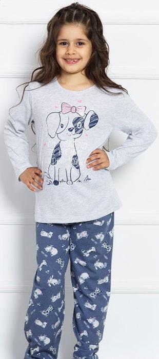 Комплект домашний для девочки Vienettas Secret Собачка Puppy Love: брюки, лонгслив, цвет: серый меланж. 703029 0393. Размер 158/164, 13-14 лет703029 0393Комплект домашний для девочки Vienettas Secret изготовлен из натурального хлопка с ярким принтом, состоящий из брюк и лонгслива, идеально подойдет вашей маленькой принцессе. Предметы комплекта очень мягкие на ощупь, не раздражают даже самую нежную и чувствительную кожу ребенка и хорошо вентилируются.