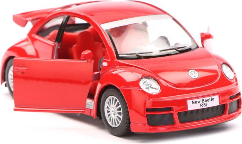 maisto радиоуправляемая модель volkswagen beetle цвет желтый Kinsmart Модель автомобиля Volkswagen New Beetle Rsi цвет красный