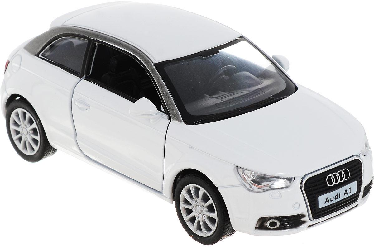 Kinsmart Модель автомобиля 2010 Audi A1 цвет белый, Машинки  - купить со скидкой
