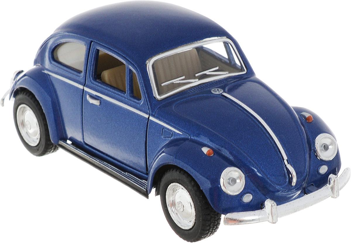 Kinsmart Модель автомобиля 1967 Volkswagen Classical Beetle цвет синий uni fortune toys модель автобуса volkswagen t1 transporter цвет желтый синий