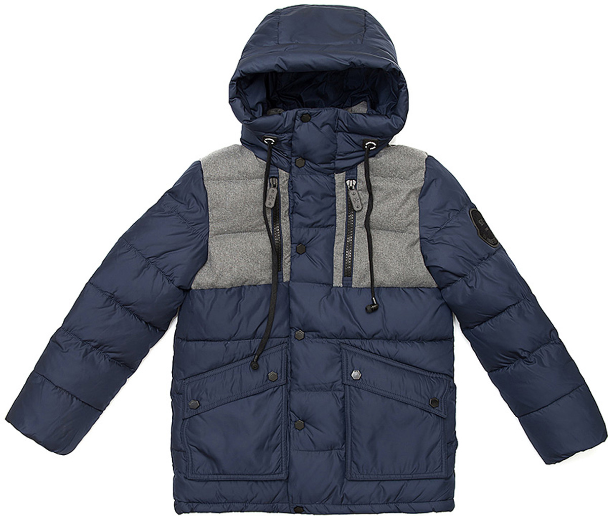 Куртка для мальчика Vitacci, цвет: синий. 1171481-04. Размер 1401171481-04Удлиненная куртка для мальчика Vitacci, изготовленная из полиэстера, станет стильнымдополнением к детскому гардеробу.Подкладка выполнена из полиэстера и дополнительно утеплена флисом по спинке. В качестве наполнителя используется биопух.Куртка со съемным капюшоном и воротником-стойкой застегивается на пластиковую застежку-молнию и дополнительно имеет внешнюю ветрозащитную планку на кнопках. Температурный режим от -10°С до -25°С.Теплая, удобная и практичная куртка идеально подойдет юному моднику для прогулок!