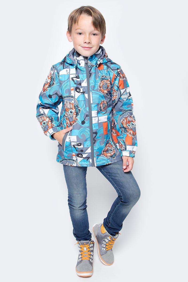 Куртка для мальчика Huppa Jody, цвет: голубой, серый, оранжевый. 17000004-73146. Размер 12817000004-73146Куртка с подкладкой для мальчика Huppa c длинными рукавами, воротником-стойкой и съемным капюшоном, выполнена из высококачественного водонепроницаемого и ветрозащитного материала на основе полиэстера. Модель застегивается на застежку-молнию с защитой подбородка спереди. Изделие имеет два прорезных кармана на застежках-молниях. Манжеты рукавов собраны на внутренние резинки. Модель оформлена оригинальным контрастным принтом. На изделии имеются светоотражательные элементы для безопасности в темное время суток.