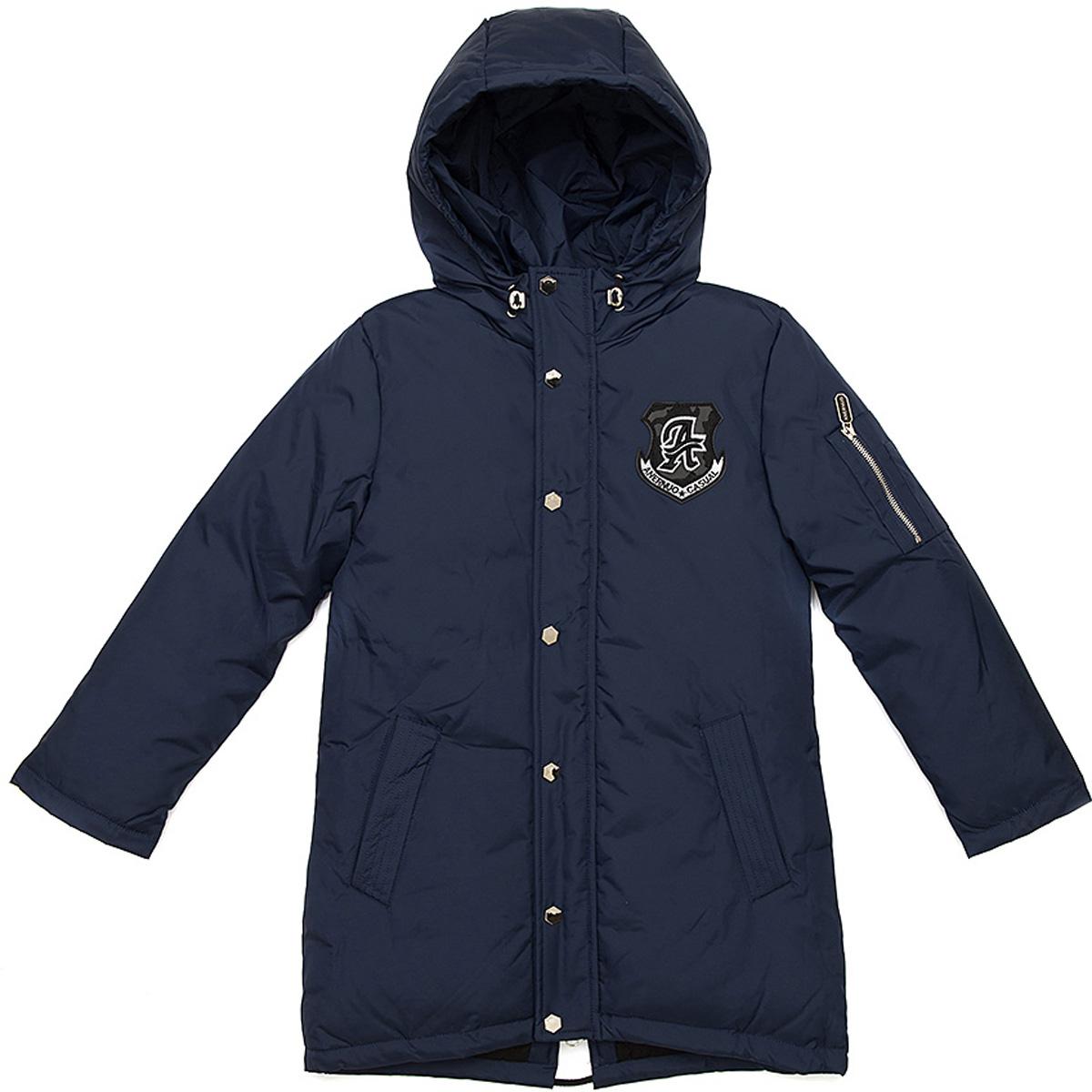 Куртка для мальчика Vitacci, цвет: голубой. 1171485-44. Размер 1501171485-44Куртка для мальчика удлиненная. Подкладка дополнительно утеплена флисом по спинке. Наполнитель БИО ПУХ. Температурный режим от -5°С до -20°С.