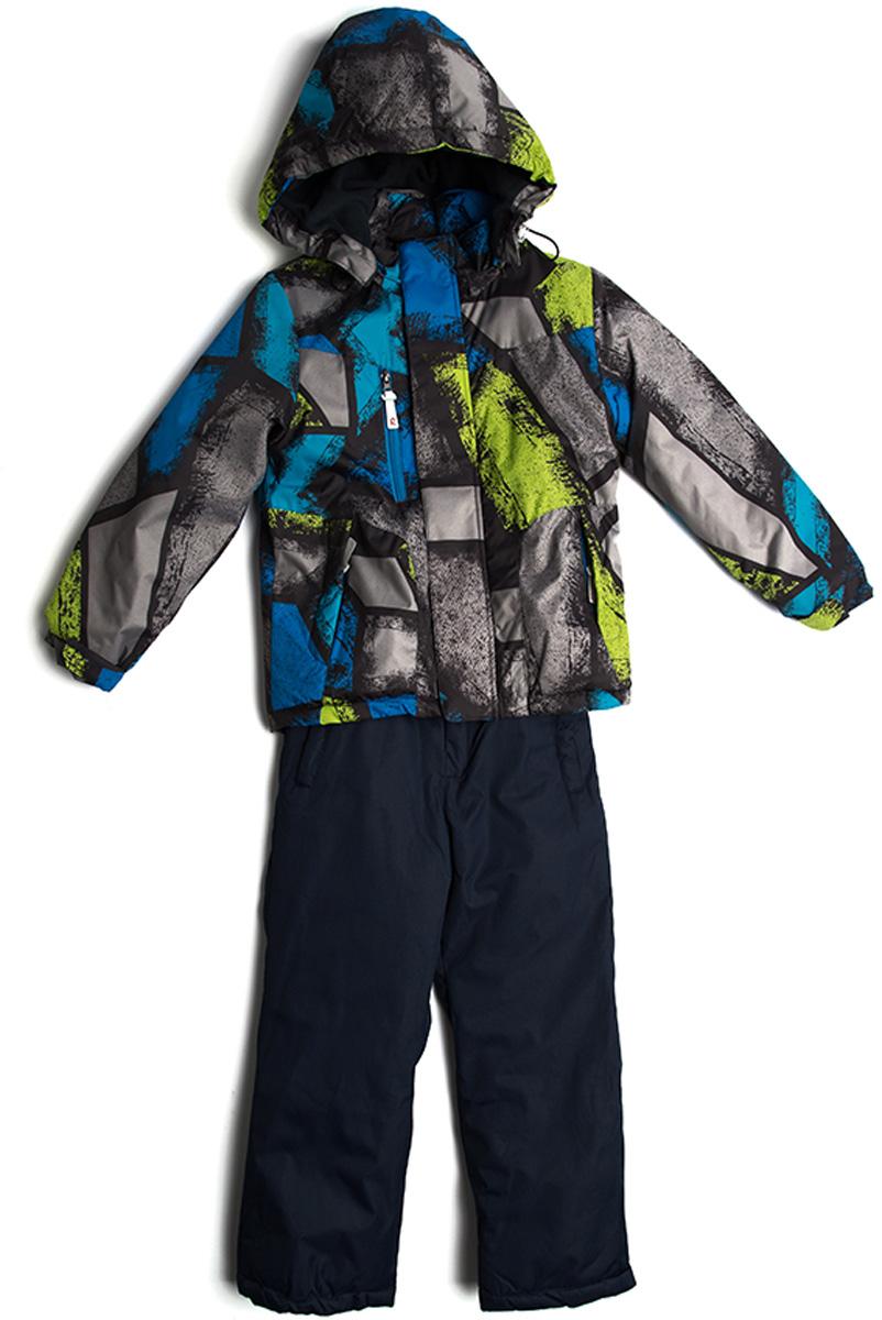 Комплект одежды для мальчика Vitacci: брюки, куртка, цвет: зеленый, мультиколор. 1171490-06. Размер 1161171490-06Костюм для мальчика. Брюки и куртка. Капюшон на куртке съемный. Подкладка дополнительно утеплена флисом по спинке. Наполнитель синтепон. Температурный режим от -5°С до -10°С