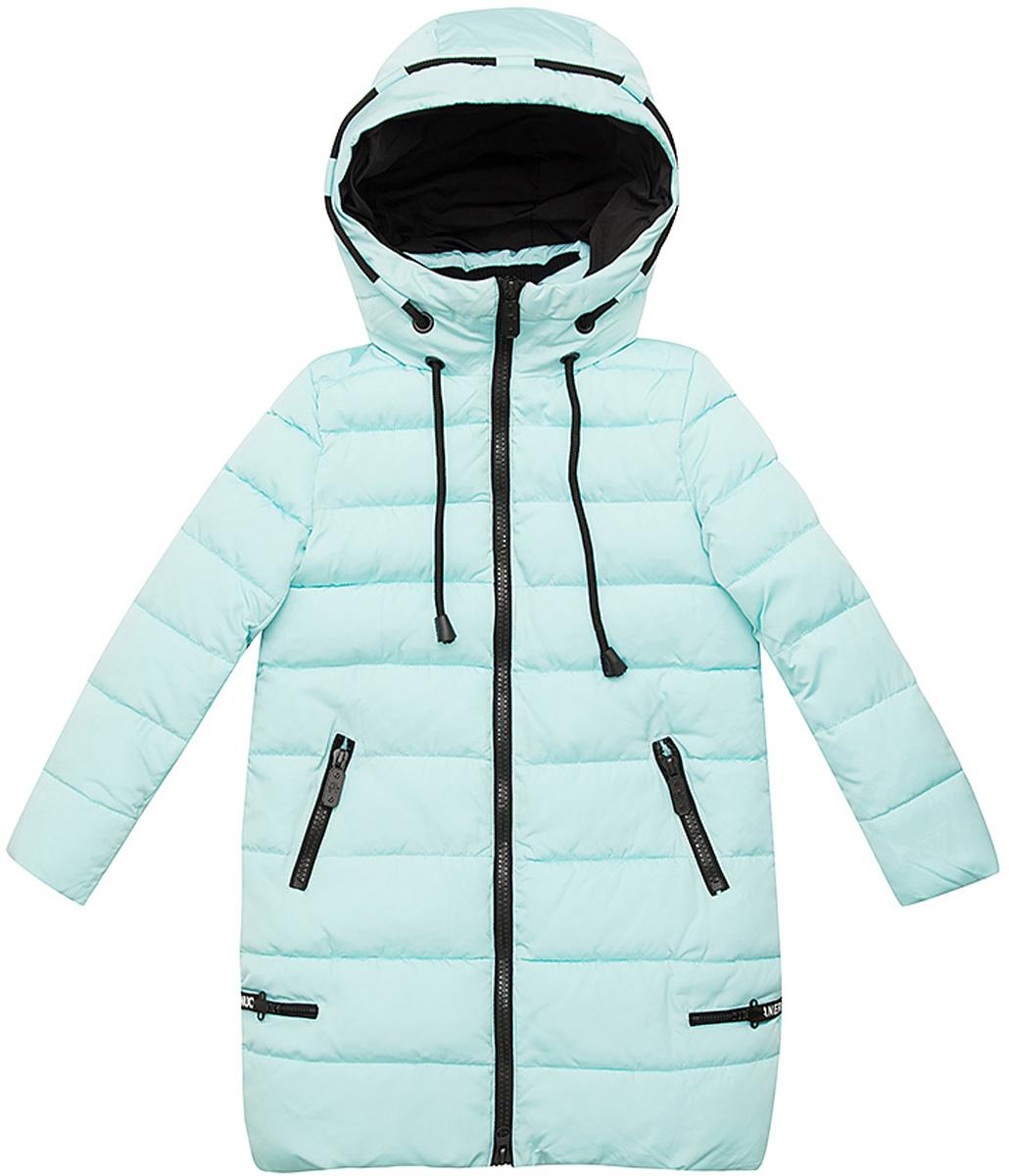 Куртка для девочки Vitacci, цвет: мятный. 2171454-32. Размер 1402171454-32Удлиненная куртка для девочки Vitacci, изготовленная из полиэстера, станет стильнымдополнением к детскому гардеробу.Подкладка выполнена из полиэстера и дополнительно утеплена флисом по спинке. В качестве утеплителя используется биопух.Модель с капюшоном и длинными рукавами застегивается на пластиковую застежку-молнию. Съемный капюшон регулируется в объеме при помощи шнурка.Температурный режим от -5 до -25 градусов.Красивый цвет, модный силуэтобеспечивают куртке прекрасный внешний вид! Теплая, удобная и практичная куртка идеально подойдет юной моднице для прогулок!