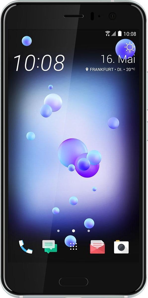 HTC U11 64GB, Ice WhiteU11_64GBСтеклянное покрытие с потрясающим переливающимся дизайном, камера с новым сверхбыстрым автофокусом UltraSpeed Autofocus от HTC, получившая одну из самых высоких в индустрии оценок DxOMarksi, самое чистое доступное на рынке звучание с системой активного подавления внешних шумов, удивительно красивый корпус с защитой от воды и брызг - все это HTC U11.Впечатляющая стеклянная поверхность с переливающимся дизайном создана с применением технологии многослойного покрытия с эффектом преломления света. В ходе производства в стекло задней поверхности корпуса устройства на разную глубину вводятся минералы с различной степенью переотражения света. Именно так удается добиться поразительно насыщенных цветов, которые получаются преломлением окружающего света в зависимости от положения корпуса смартфона.Для создания нового цельного изогнутого корпуса HTC U11 используется особый процесс формовки стекла с применением экстремального давления и высокой температуры. Это непростая задача. В результате удалось создать устройство с симметричной конструкцией по всем трем осям. Неважно держишь ли ты его в правой или левой руке, вертикально или горизонтально. Изогнутое 3D стекло на фронтальной и задней поверхностях корпуса смартфона делает конструкцию не только визуально привлекательной, но и удобной в использовании.Экран HTC U11 с диагональю 5.5 выполнен из 3D стекла и специально разработан для передачи насыщенной, четкой картинки. Лучший на сегодняшний момент экран от HTC и естественная цветопередача производят яркое и неискажённое впечатление. Тебе не придётся привыкать к обрезанным изображениям или артефактам цвета по краям экрана, как это часто происходит в случае устройств с изогнутым экраном.Функция Edge Sense значительно расширяет возможности смартфона. Ты сможешь настроить доступ к широкому набору функций и приложений. Одним нажатием открыть Facebook, Twitter или Pinterest. Или вызвать мощного голосового помощника Google Ассистент! Слегка сожмите корпус