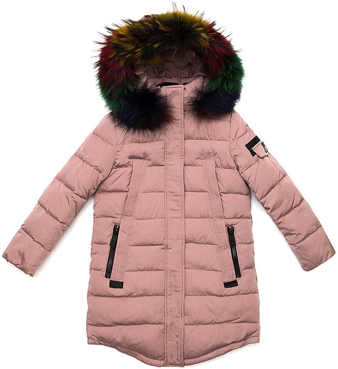 Куртка для девочки Vitacci, цвет: розовый. 2171457-11. Размер 1602171457-11Удлиненная куртка для девочки Vitacci, изготовленная из полиэстера, станет стильнымдополнением к детскому гардеробу.Подкладка выполнена из полиэстера и дополнительно утеплена флисом по спинке. В качестве утеплителя используется биопух.Модель застегивается на пластиковую застежку-молнию. Имеет ветрозащитную планку и съемный капюшон с отделкой из натурального разноцветного меха.Температурный режим от -10 до -25 градусов.Теплая, удобная и практичная куртка идеально подойдет юной моднице для прогулок!