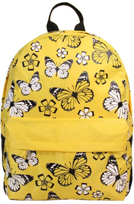 Рюкзак женский Antan Бабочки, цвет: лимонный. 60076007Стильный женский рюкзак Antan Бабочки изготовлен из текстиля и оформлен яркой клеткой.Изделие имеет одно отделение, которое закрывается на застежку-молнию с двумя бегунками.Внутри расположен мягкий карман для планшета. Снаружи, на передней стенке расположенобъемный накладной карман на застежке-молнии. Изделие оснащено двумя лямкамирегулируемой длины с мягкой подкладкой и удобной ручкой.Такой рюкзак эффектно дополнит ваш образ и станет незаменимым в повседневной жизни или впутешествии. Размер: 32 х 40 х 13 см.