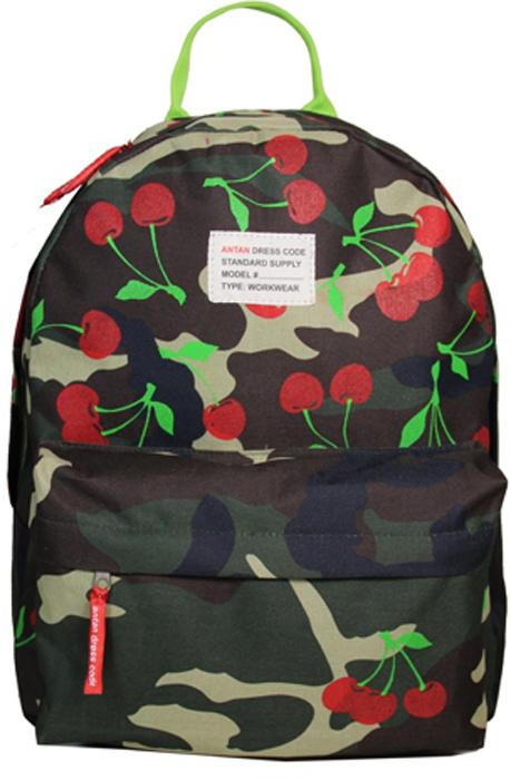 Рюкзак женский Antan Вишенки, цвет: камуфляж. 60076007Стильный женский рюкзак Antan Вишенки изготовлен из текстиля и оформлен яркой клеткой.Изделие имеет одно отделение, которое закрывается на застежку-молнию с двумя бегунками.Внутри расположен мягкий карман для планшета. Снаружи, на передней стенке расположенобъемный накладной карман на застежке-молнии. Изделие оснащено двумя лямкамирегулируемой длины с мягкой подкладкой и удобной ручкой.Такой рюкзак эффектно дополнит ваш образ и станет незаменимым в повседневной жизни или впутешествии. Размер: 32 х 40 х 13 см.