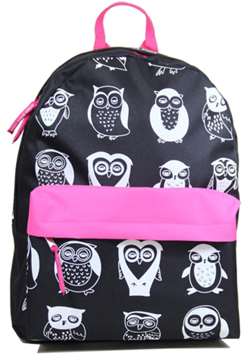 """Рюкзак женский Antan """"Совы"""", цвет: черный, графитовый. 6007"""