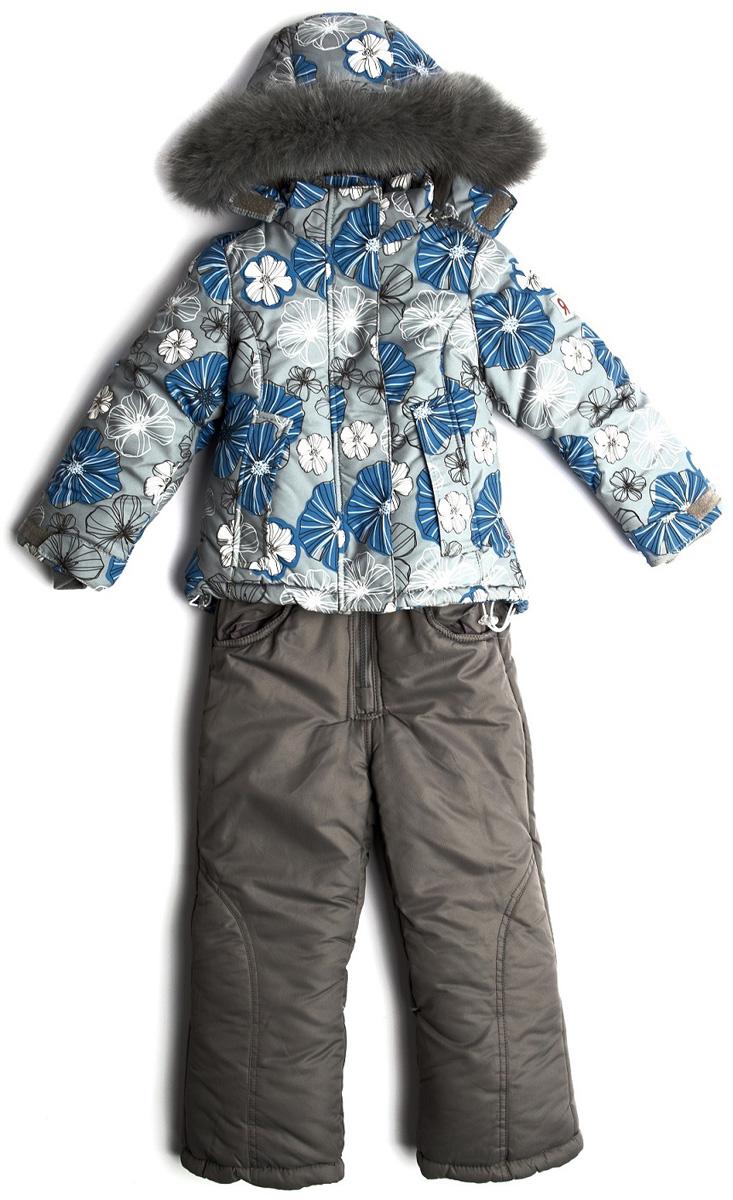 Комплект верхней одежды для девочки Vitacci: куртка, брюки, цвет: серый. 2171483-02. Размер 1102171483-02Комплект для девочки Vitacci включает в себя куртку и брюки. Куртка с длинными рукавами и капюшоном выполнена из нейлона и оформлена ярким принтом. Капюшон на куртке съемный, с отделкой из натурального цветного меха. Подкладка изготовлена из полиамида и утеплена флисом. Модель имеет внешнюю ветрозащитную планку. Спереди расположены два кармана. Теплые брюки застегиваются на молнию.Температурный режим от -10°С до -20°С.