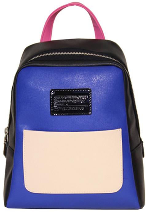Сумка-рюкзак женская Antan, цвет: синий, черный, графитовый. 943