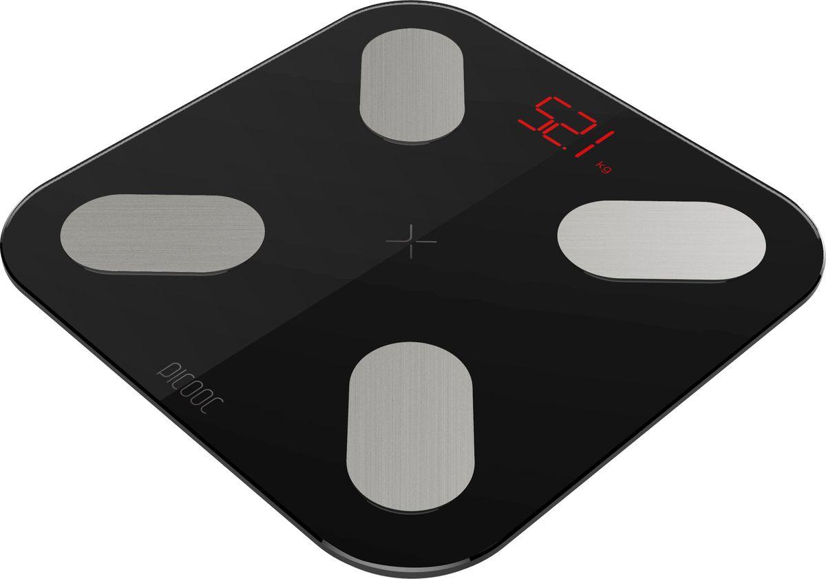 Умные весы Picooc  mini , диагностические, цвет: черный - Напольные весы