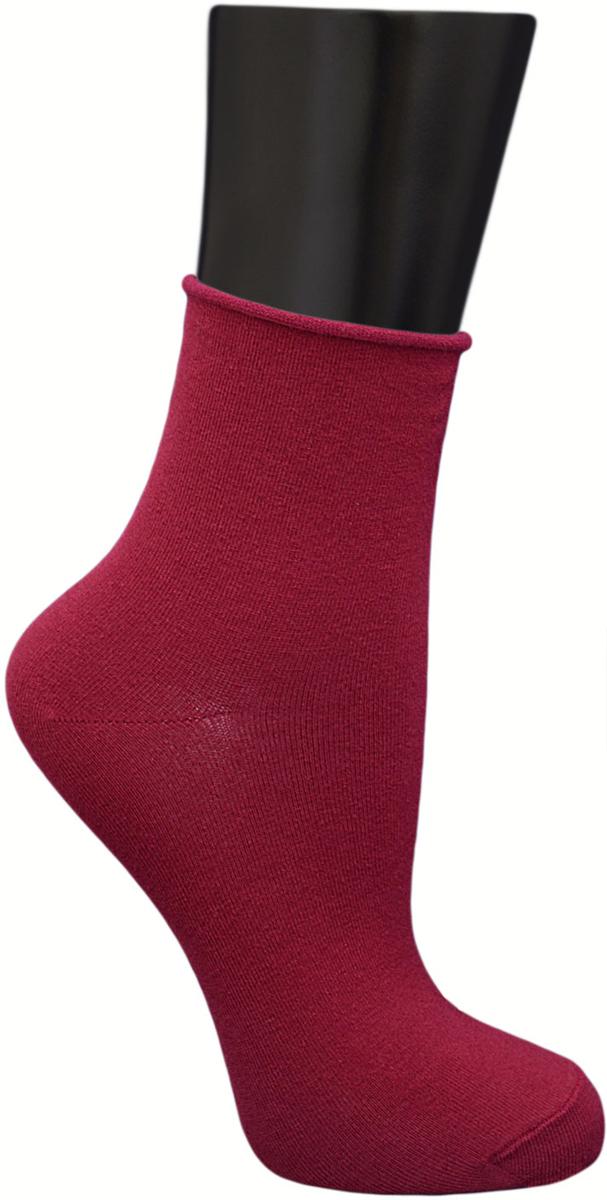 Носки женские Гранд, цвет: бордовый, 2 пары. SCL122. Размер 23/25SCL122Женские носки без резинки по уникальной технологии: - основа материала – высококачественный хлопок; - хорошо держат форму и обладают повышенной воздухопроницаемостью; - мягкие, удобные, эластичные; - ослабленная резинки способствует снятию синдрома тяжести в ногах. Рекомендуются людям, страдающих заболеваниями ног и ведущим малоподвижный образ жизни.В комплекте две пары носок.