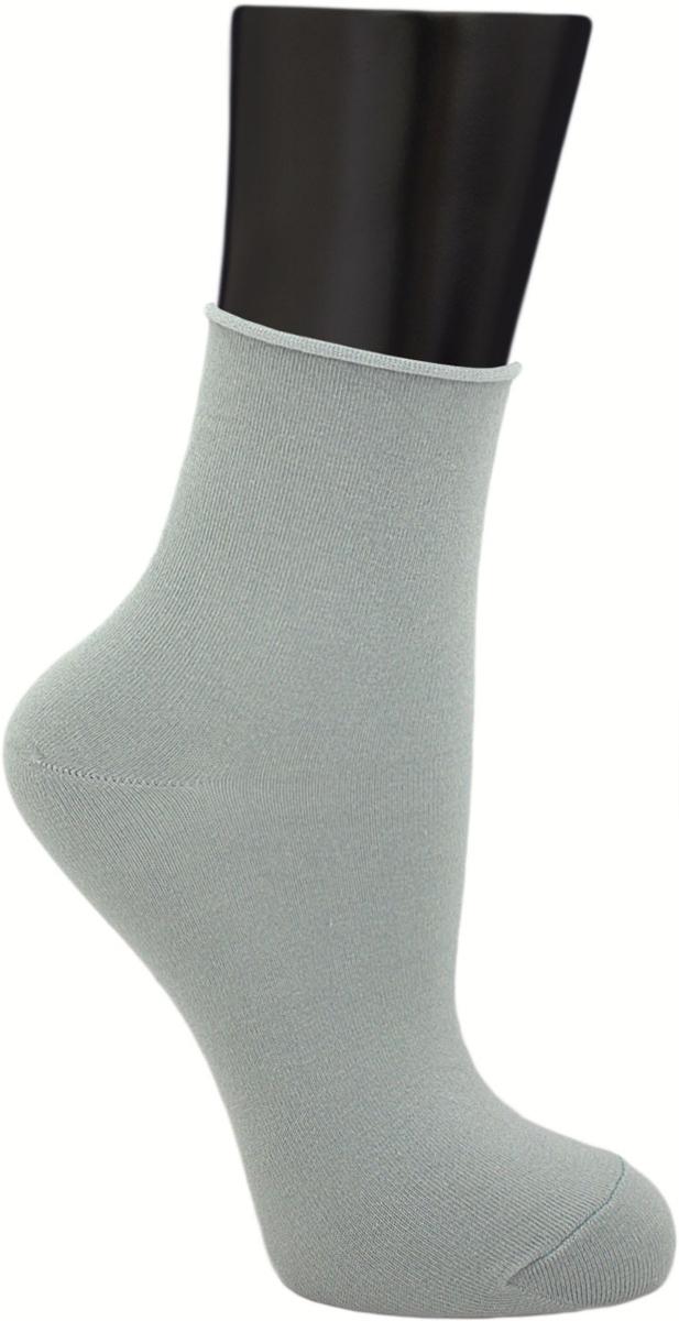 Носки женские Гранд, цвет: серо-зеленый, 2 пары. SCL122. Размер 23/25SCL122Женские носки без резинки по уникальной технологии: - основа материала – высококачественный хлопок; - хорошо держат форму и обладают повышенной воздухопроницаемостью; - мягкие, удобные, эластичные; - ослабленная резинки способствует снятию синдрома тяжести в ногах. Рекомендуются людям, страдающих заболеваниями ног и ведущим малоподвижный образ жизни.В комплекте две пары носок.