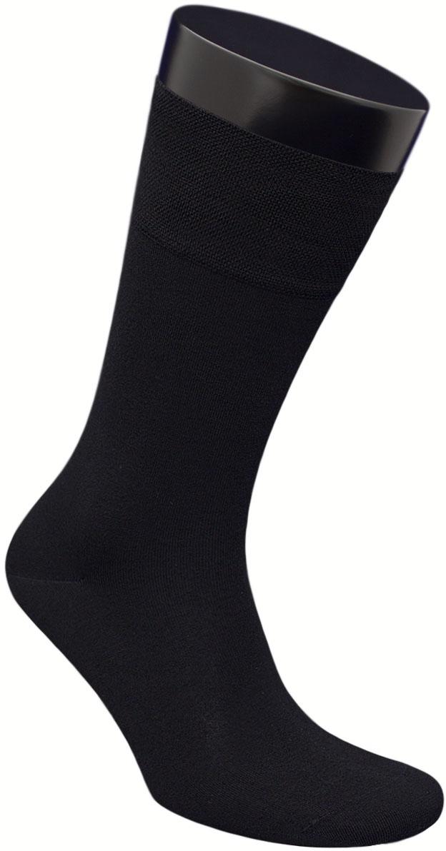 Носки мужские Гранд, цвет: черный, 2 пары. ZB160. Размер 25ZB160Элитные, однотонные мужские носки из бамбука: - имеют легкий шелковый блеск; - бесшовная технология зашивки мыска (кеттельный шов); - обеспечивают хороший воздухообмен и антибактериальную защиту; - хорошо впитывают влагу; - мягкая анатомическая резинка; - усилены пятка и мысок. Носки произведены по европейским стандартам на современных итальянских вязальных автоматах «BUSI GIOVANNI».В комплект входят две пары носок.