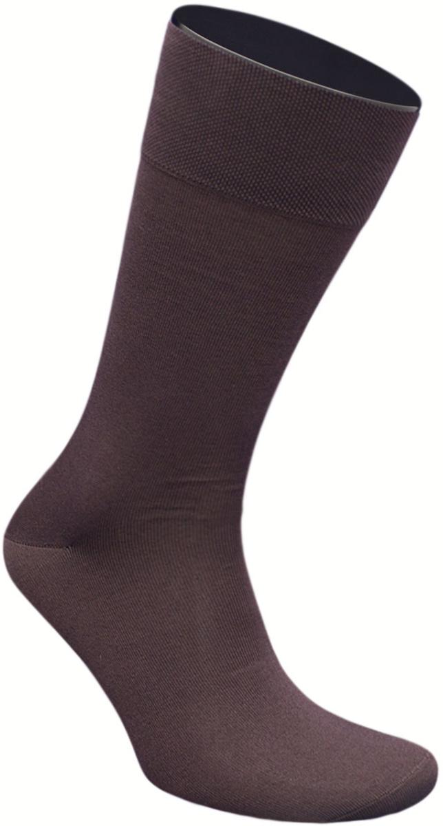 Носки мужские Гранд, цвет: коричневый, 2 пары. ZCmr149. Размер 29ZCmr149Элитные мужские носки из мерсеризованного хлопка: - бесшовная технология (кеттельный, плоский шов); - хорошо держат форму; - обладают повышенной воздухопроницаемостью; - не линяют после многочисленных стирок; - имеют оптимальную высоту паголенка; - мягкая анатомическая резинка; - усилены пятка и мысок. Носки произведены по европейским стандартам на современных итальянских вязальных автоматах «BUSI GIOVANNI».В комплект входят две пары носок.