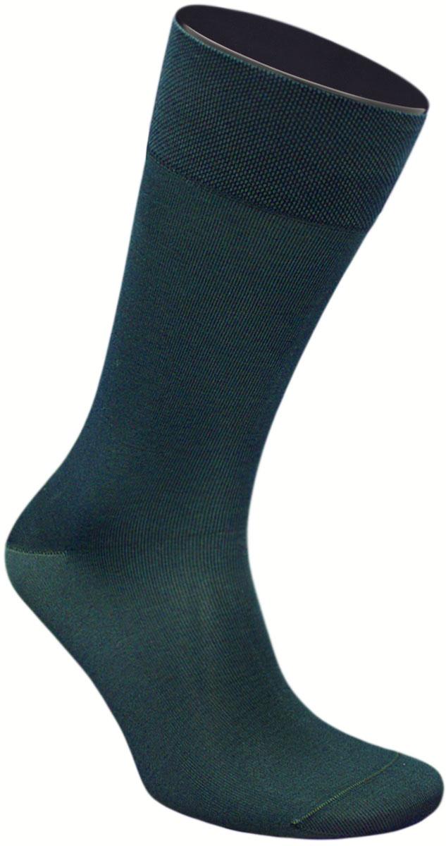 Носки мужские Гранд, цвет: темно-зеленый, 2 пары. ZCmr149. Размер 25ZCmr149Элитные мужские носки из мерсеризованного хлопка: - бесшовная технология (кеттельный, плоский шов); - хорошо держат форму; - обладают повышенной воздухопроницаемостью; - не линяют после многочисленных стирок; - имеют оптимальную высоту паголенка; - мягкая анатомическая резинка; - усилены пятка и мысок. Носки произведены по европейским стандартам на современных итальянских вязальных автоматах «BUSI GIOVANNI».В комплект входят две пары носок.