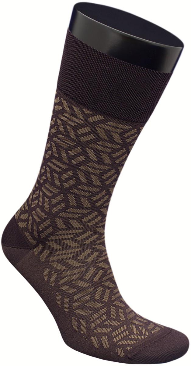 Носки мужские Гранд, цвет: коричневый, 2 пары. ZCmr153. Размер 31ZCmr153Элитны мужские носки из мерсеризованного хлопка: - имеют легкий шелковый блеск, отлично подходят к любому костюму; - бесшовная технология (кеттельный, плоский шов); - хорошо держат форму; - обладают повышенной воздухопроницаемостью; - не линяют после многочисленных стирок; - имеют оптимальную высоту паголенка: - мягкая анатомическая резинка; - усилены пятка и мысок. Носки произведены по европейским стандартам на современных итальянских вязальных автоматах «BUSI GIOVANNI». В комплект входят две пары носок.