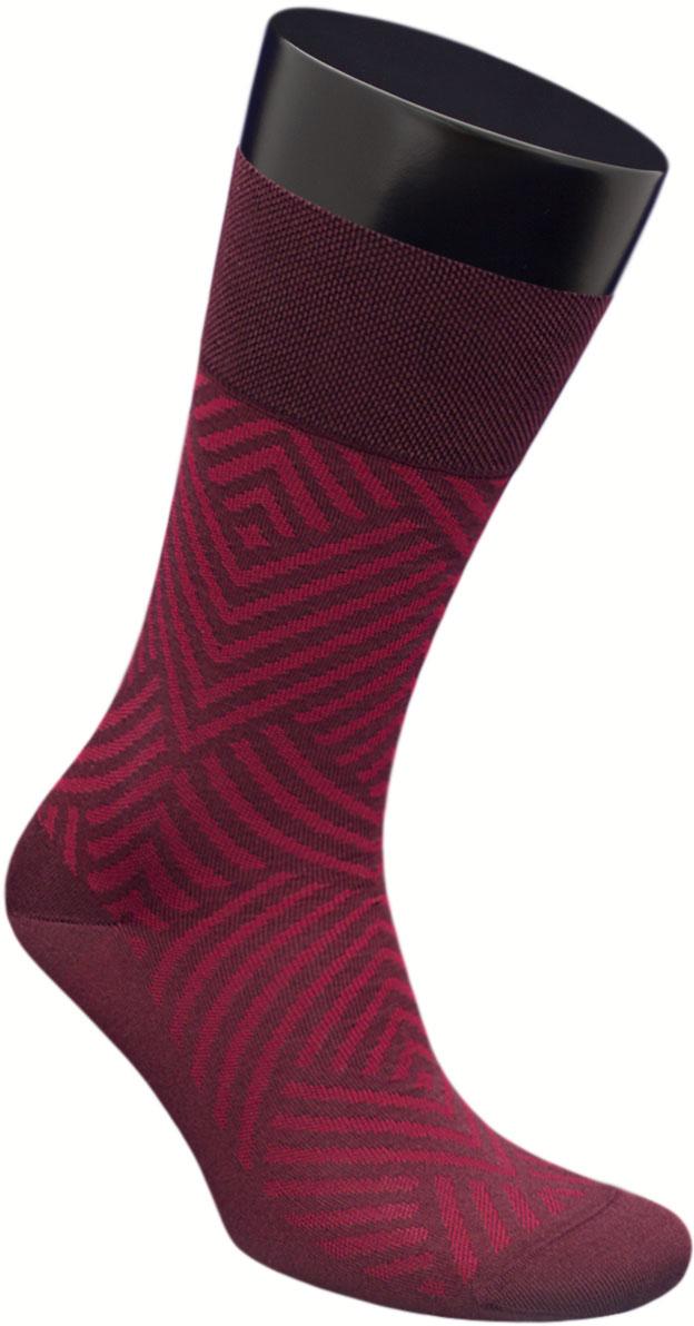 Носки мужские Гранд, цвет: бордовый, 2 пары. ZCmr156. Размер 27ZCmr156Элитные мужские носки из мерсеризованного хлопка: - бесшовная технология (кеттельный, плоский шов); - хорошо держат форму; - обладают повышенной воздухопроницаемостью; - не линяют после многочисленных стирок; - имеют оптимальную высоту паголенка; - мягкая анатомическая резинка; - усилены пятка и мысок. Носки произведены по европейским стандартам на современных итальянских вязальных автоматах BUSI GIOVANNI.В комплект входят две пары носок.