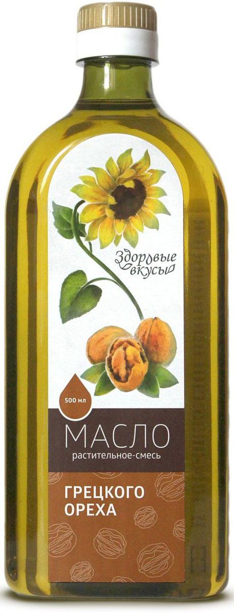 Фото Здоровые вкусы масло растительное смесь грецкого ореха, 500 мл