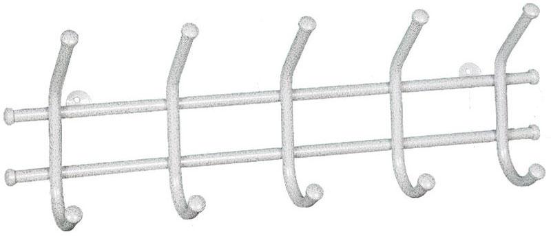 Вешалка настенная ЗМИ Норма 5, с 5 крючками, цвет: белое серебро, 48 х 8 х 16,5 смВН 24 БСВешалка настенная ЗМИ Норма 5 предназначена для размещения одежды в любых помещениях - дом, офис, общепит и т.п.Вешалка выполнена из стальной трубы диаметром 10 мм;стальные колпачки; полимерно-порошковое покрытиеКонструкция: цельносварнаяРазмер в собранном виде - 480 х 80 х 165 мм Размер в упакованном виде- 480 х 80 х 165 мм Отличительные особенности:- надежная сварная конструкция - компактная вешалка с 5-ю крючками - классическая форма