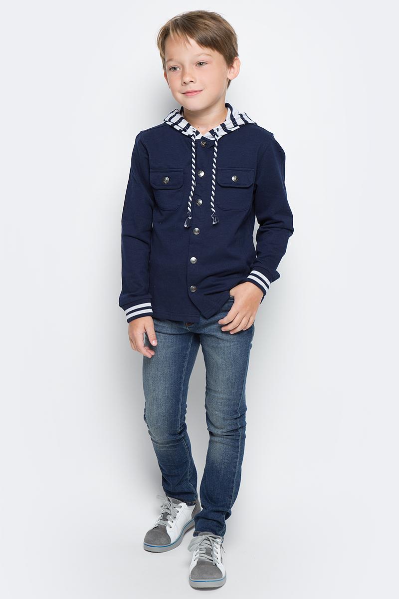 Джинсы для мальчика Tom Tailor, цвет: синий. 6205886.00.82_1195. Размер 986205886.00.82_1195Детские джинсы для мальчика Tom Tailor с эффектом потертости ткани. Модель зауженного кроя и средней посадки в поясе застегивается на пуговицу, имеются ширинка на молнии и шлевки для ремня. Джинсы имеют классический пятикарманный крой.