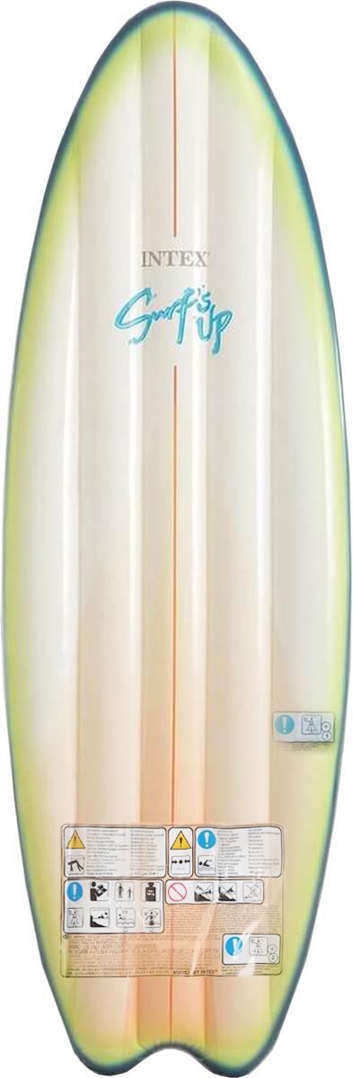 Надувной матрас Intex Серфер, цвет: белый, салатовый, синий, 178 х 69 смс58152_белый, салатовый, синийНадувной матрас Intex Серфер изготовлен из высококачественного ПВХ и выполнен в виде доски для серфинга.Такой оригинальный надувной матрас станет незаменимым атрибутом летнего отдыха.Изделие поставляется в сдутом виде.