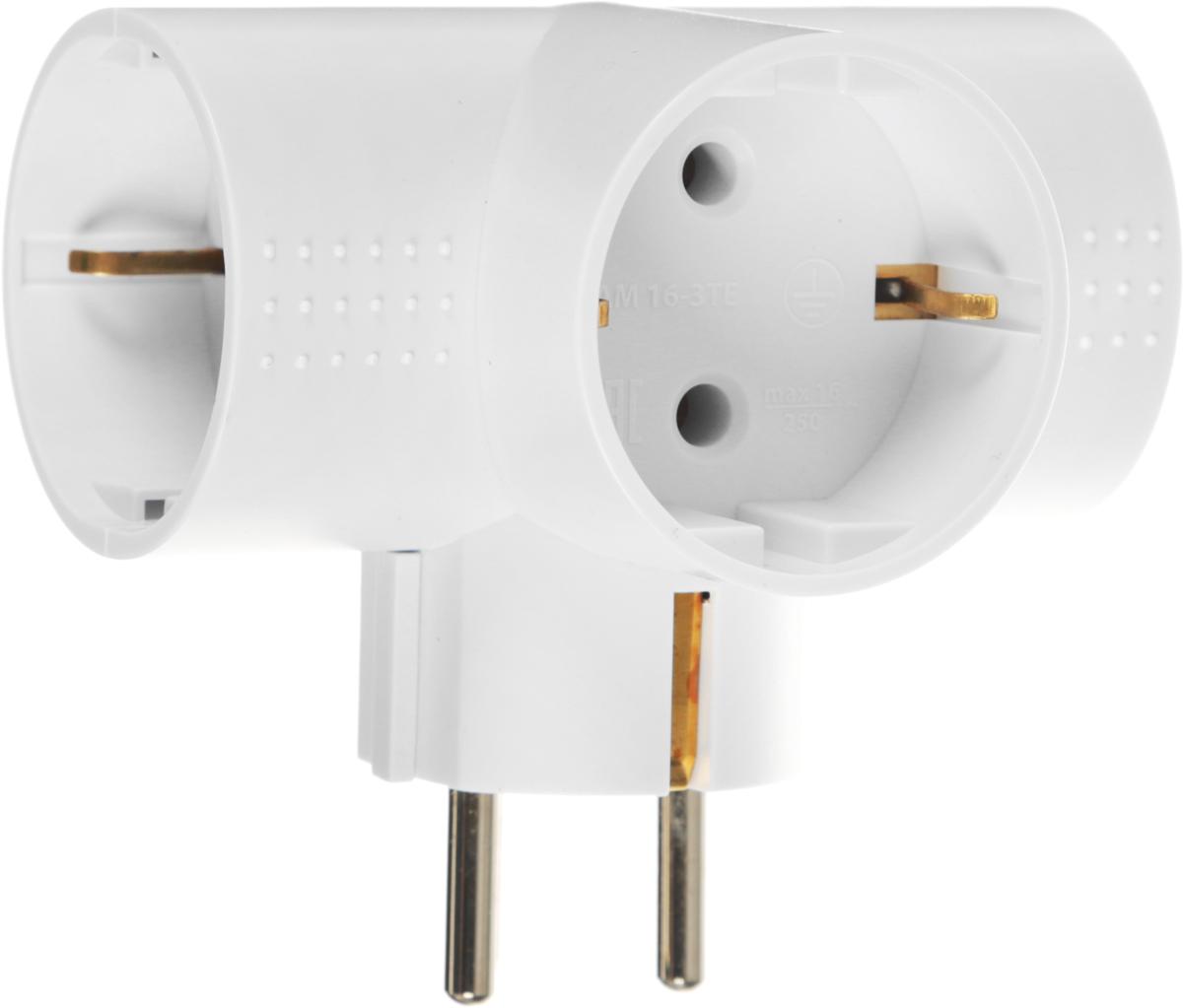 Разветвитель электрический Фотон АМ 16-3ТЕ, 16 А, с заземлением22846Сетевой разветвитель (тройник) Фотон АМ 16-3ТЕ предназначен для бытового применения в помещениях и обеспечивает возможность присоединения электрических приемников к однофазным сетям с номинальным напряжением 220В. Позволяет подключить несколько потребителей к одной электрической розетке. Материал корпуса - негорючий пластик с антипиренами, устойчив к механическим повреждениям, соответствует требованиям пожаробезопасности. Наличие заземляющего контакта: нет. Напряжение номинальное: 220В. Мощность - 4000 Вт. Номинальный ток - max 16 А. Уважаемые клиенты! Обращаем ваше внимание на то, что упаковка может иметь несколько видов дизайна. Поставка осуществляется в зависимости от наличия на складе.