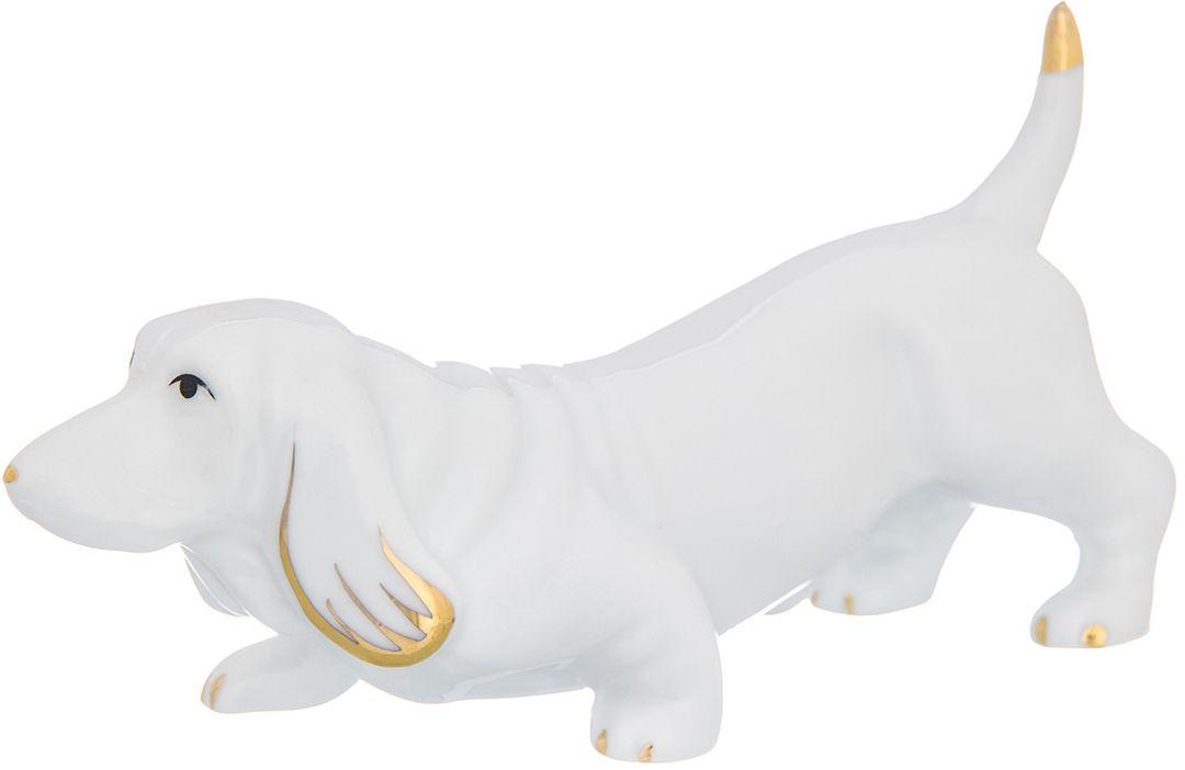 Фигурка декоративная Elan Gallery Бассет белый, 13 x 4,5 x 7 см. 330411330411Декоративная фигурка Бассет белый станет прекрасным дополнением вашего интерьера, а также отличным подарком в наступающем 2018 году, символом которого является по восточному (китайскому) календарю - Желтая Земляная Собака, которая весь год будет на страже вашего благополучия.
